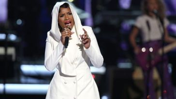 "Jennifer Hudson singing ""Purple Rain"" during the 2016 BET Award's Prince tribute on June 26. Photo Credit: USA Today"