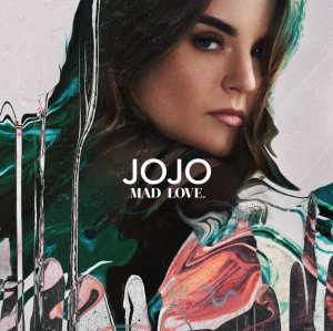 """The official artwork for Jojo's album, """"Mad Love. I do not own the rights to this photo."""