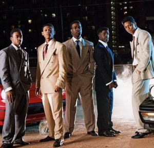 "The actors from 'The New Edition Story' doing their redemption of New Edition's ""Heart Break"" album cover. I do not own the rights to this photo."